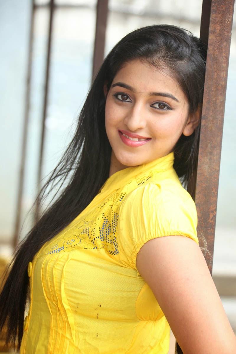 Beautiful Telugu Girl Pavani Long Black Hair Stills In Red