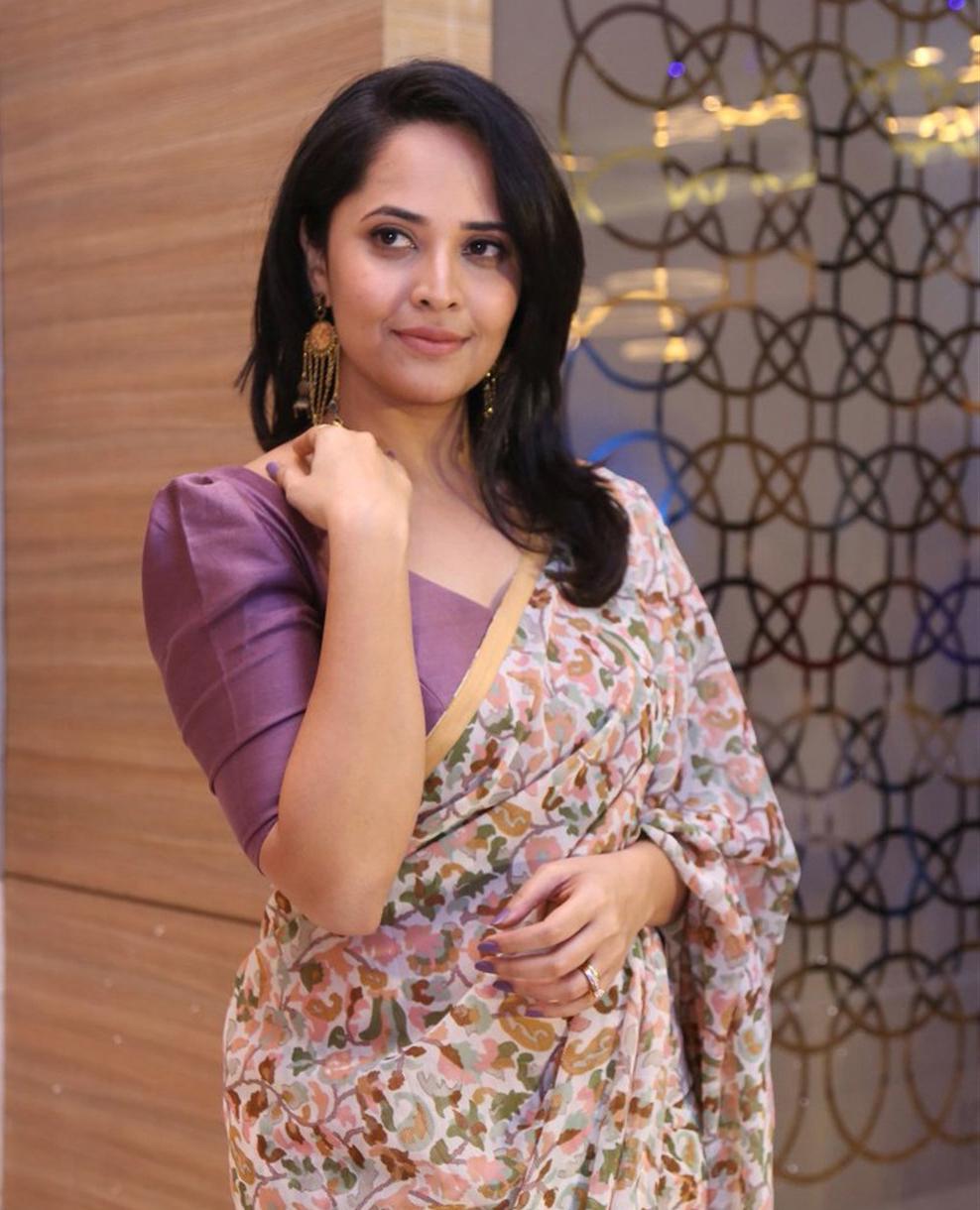 Actress Anasuya Bharadwaj New Saree Images