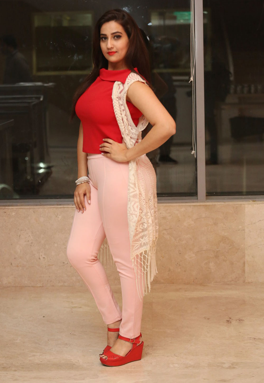 Anchor Manjusha Latest Photoshoot in Red dress