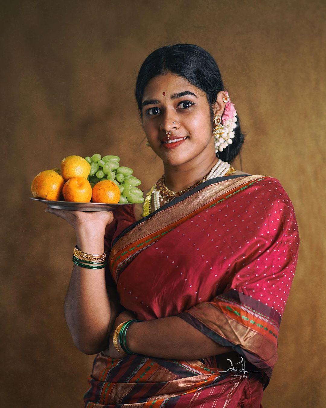Actress Athira Harikumar In Saree Photo